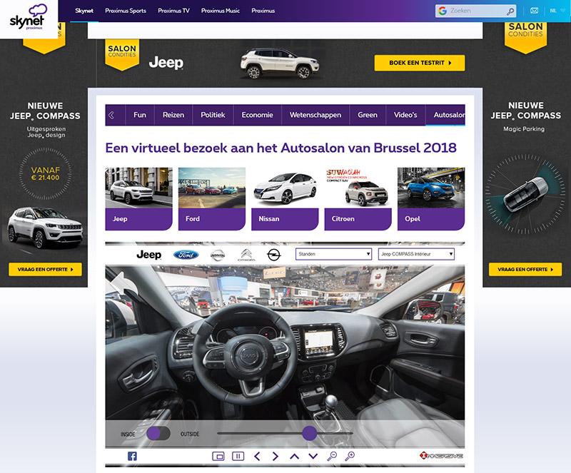 Proximus Skynet Autosalon NL